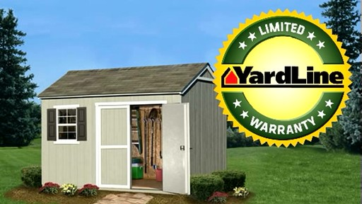 Burlington 12' x 8' Storage Shed - image 10 from the video