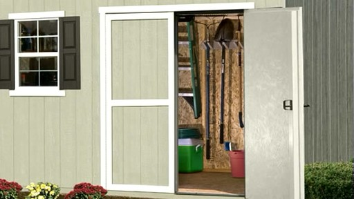 Burlington 12' x 8' Storage Shed - image 4 from the video