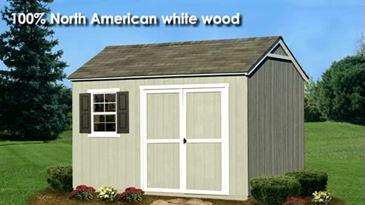 Burlington 12' x 8' Storage Shed - image 6 from the video