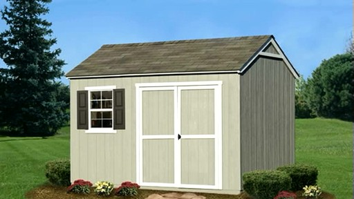 Burlington 12' x 8' Storage Shed - image 7 from the video