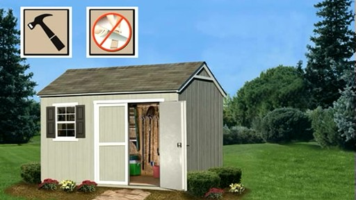 Burlington 12' x 8' Storage Shed - image 9 from the video