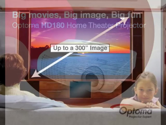 Optoma HD180 1080p Home Theater Projector - image 1 from the video