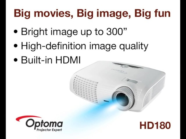 Optoma HD180 1080p Home Theater Projector - image 10 from the video