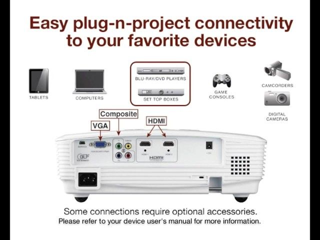 Optoma HD180 1080p Home Theater Projector - image 4 from the video