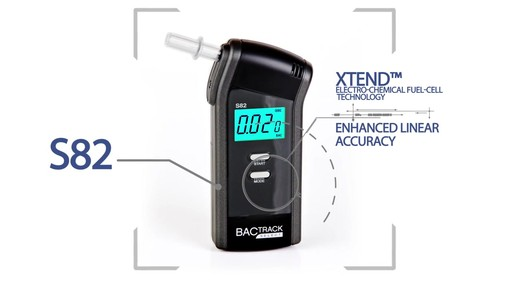 BACtrack S82  Pro Breathalyzer Alcohol Tester  - image 3 from the video