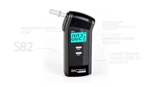 BACtrack S82  Pro Breathalyzer Alcohol Tester  - image 4 from the video