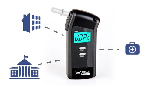 BACtrack S82  Pro Breathalyzer Alcohol Tester  - image 6 from the video