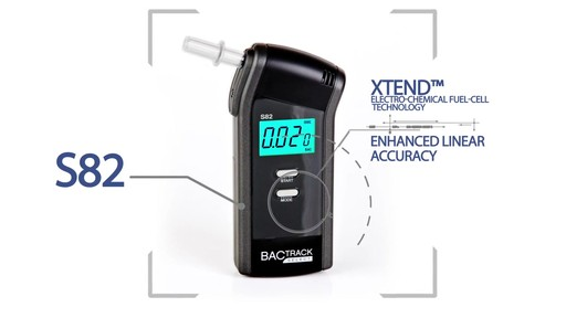 BACtrack S82 Pro Breathalyzer Alcohol Tester - image 5 from the video