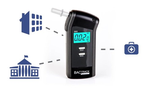 BACtrack S82 Pro Breathalyzer Alcohol Tester - image 7 from the video