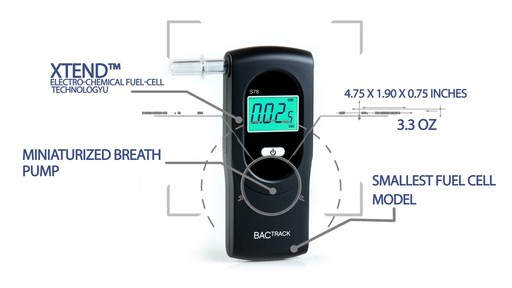 BACtrack S78 Pro Breathalyzer Alcohol Tester - image 7 from the video