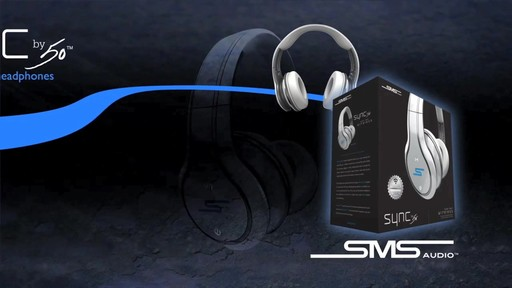 SMS Audio SYNC by 50 Black Over-Ear Wireless Headphones - image 10 from the video