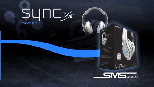 SMS Audio SYNC by 50 Black Over-Ear Wireless Headphones - image 2 from the video