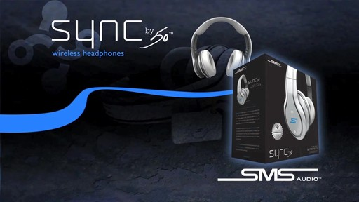SMS Audio SYNC by 50 Black Over-Ear Wireless Headphones - image 3 from the video
