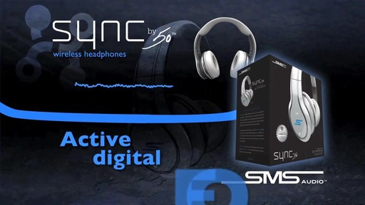 SMS Audio SYNC by 50 Black Over-Ear Wireless Headphones - image 5 from the video