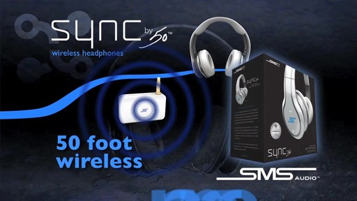 SMS Audio SYNC by 50 Black Over-Ear Wireless Headphones - image 6 from the video