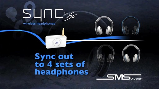 SMS Audio SYNC by 50 Black Over-Ear Wireless Headphones - image 7 from the video