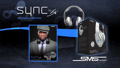 SMS Audio SYNC by 50 Black Over-Ear Wireless Headphones - image 8 from the video