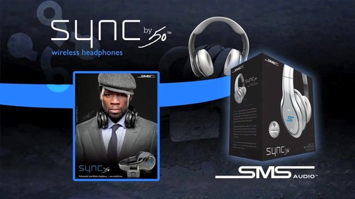 SMS Audio SYNC by 50 Black Over-Ear Wireless Headphones - image 9 from the video