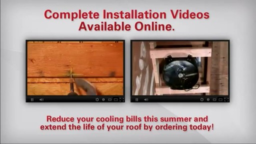 Solar Powered Attic Fan - image 10 from the video