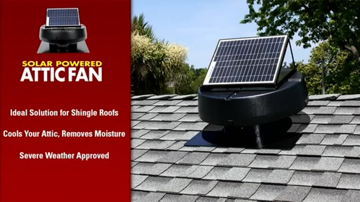 Solar Powered Attic Fan - image 9 from the video
