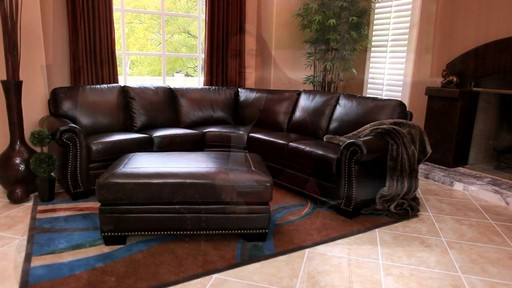 Santa Monica Top Grain Leather Sectional and Ottoman - image 1 from the video