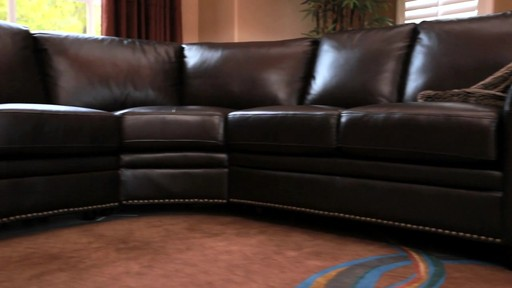 Santa Monica Top Grain Leather Sectional and Ottoman - image 2 from the video