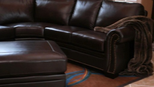 Santa Monica Top Grain Leather Sectional and Ottoman - image 3 from the video