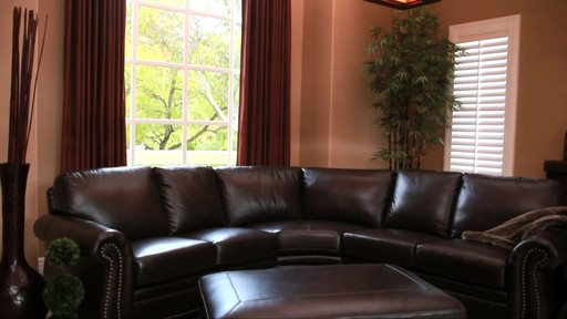 Santa Monica Top Grain Leather Sectional and Ottoman - image 4 from the video