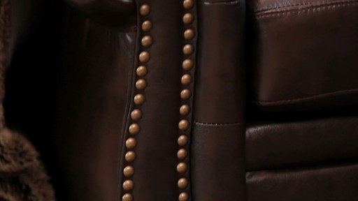 Santa Monica Top Grain Leather Sectional and Ottoman - image 6 from the video