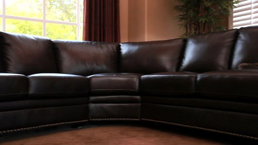 Santa Monica Top Grain Leather Sectional and Ottoman - image 7 from the video