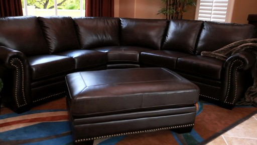 Santa Monica Top Grain Leather Sectional and Ottoman - image 8 from the video