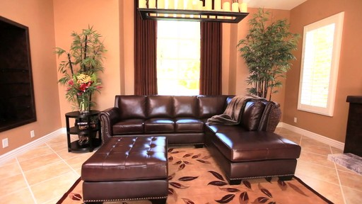 Encore Top Grain Leather Sectional and Ottoman - image 1 from the video