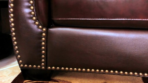 Encore Top Grain Leather Sectional and Ottoman - image 6 from the video