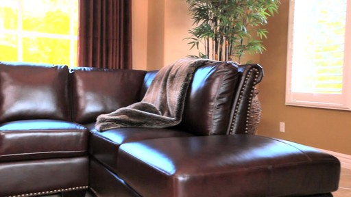 Encore top grain leather sectional and ottoman welcome for Ashley encore grain chaise