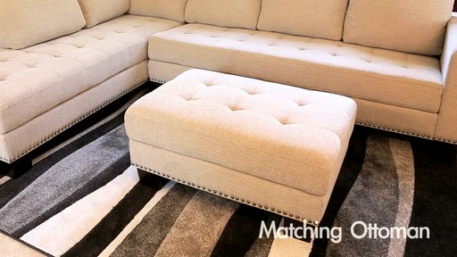 richmond fabric sectional and ottoman image 2 from the video