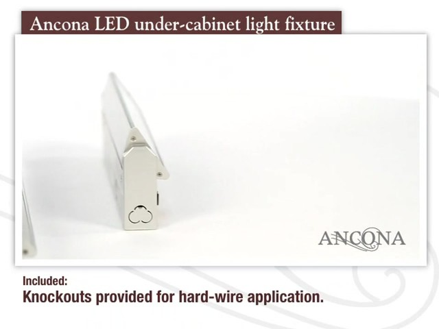 Ancona LED Under Cabinet Light Fixture - image 3 from the video