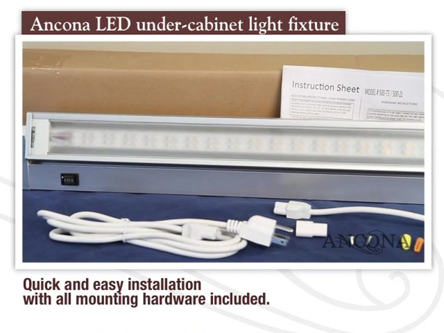 Ancona LED Under Cabinet Light Fixture - image 4 from the video