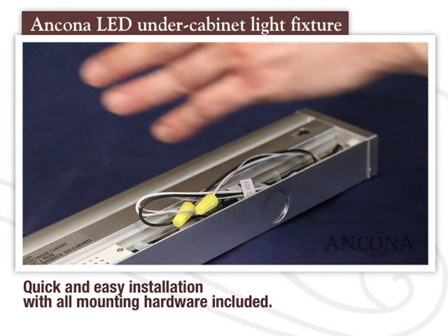 Ancona LED Under Cabinet Light Fixture - image 5 from the video