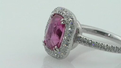 Pink Sapphire & Diamond Ring Platinum Jewelry Wel e to Costco Whole