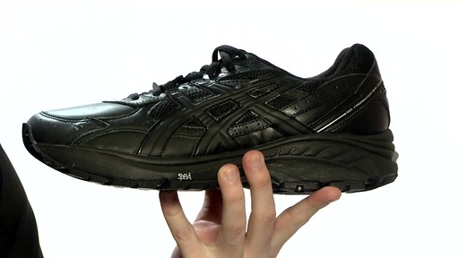 asics black walking shoes