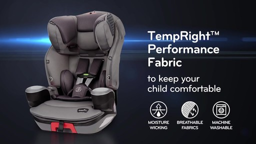 Evenflo® SafeMax™ 3-in-1 Booster Car Seat with SensorSafe Technology - image 7 from the video