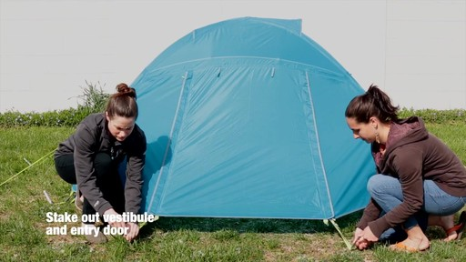 How to set up the EMS Sugar Shack 2 Tent: Eastern Mountain Sports - image 10 from the video