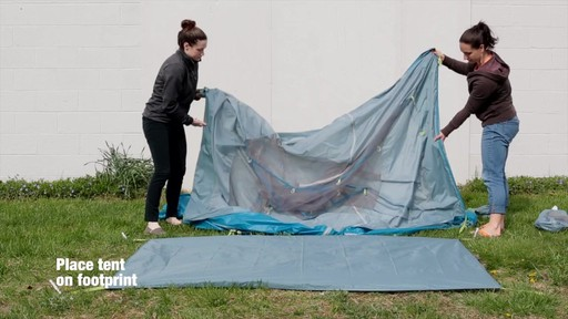 How to set up the EMS Sugar Shack 2 Tent: Eastern Mountain Sports - image 2 from the video
