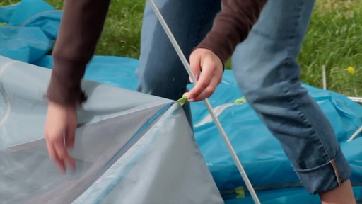 How to set up the EMS Sugar Shack 2 Tent: Eastern Mountain Sports - image 5 from the video