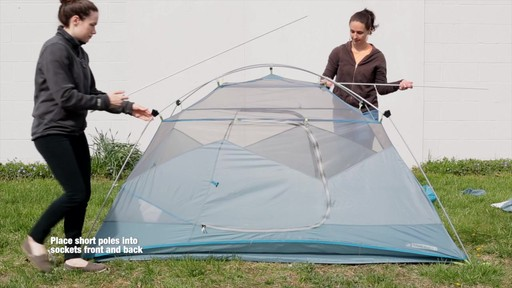 How to set up the EMS Sugar Shack 2 Tent: Eastern Mountain Sports - image 6 from the video