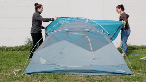 How to set up the EMS Sugar Shack 2 Tent: Eastern Mountain Sports - image 7 from the video