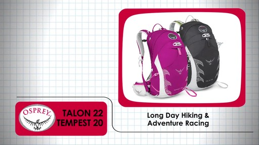 OSPREY Talon 22 and Tempest 20 Packs - image 1 from the video