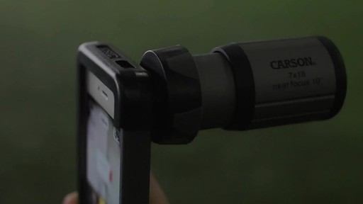 CARSON OPTICAL HookUpz Monocular Adapter for iPhone 5 - image 8 from the video
