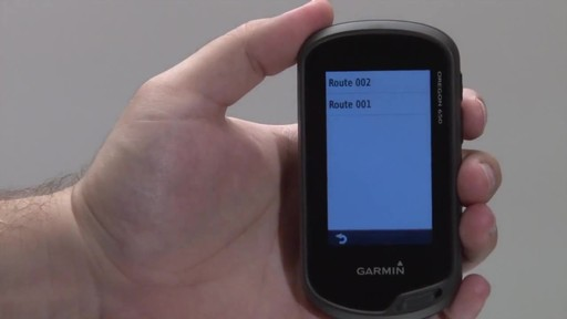 GARMIN Oregon 600 & 650 - Routes - image 9 from the video
