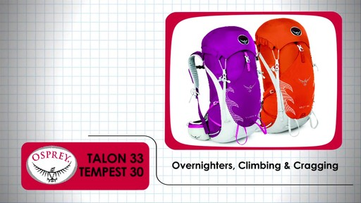 OSPREY Talon 33 & Tempest 30 Packs - image 1 from the video